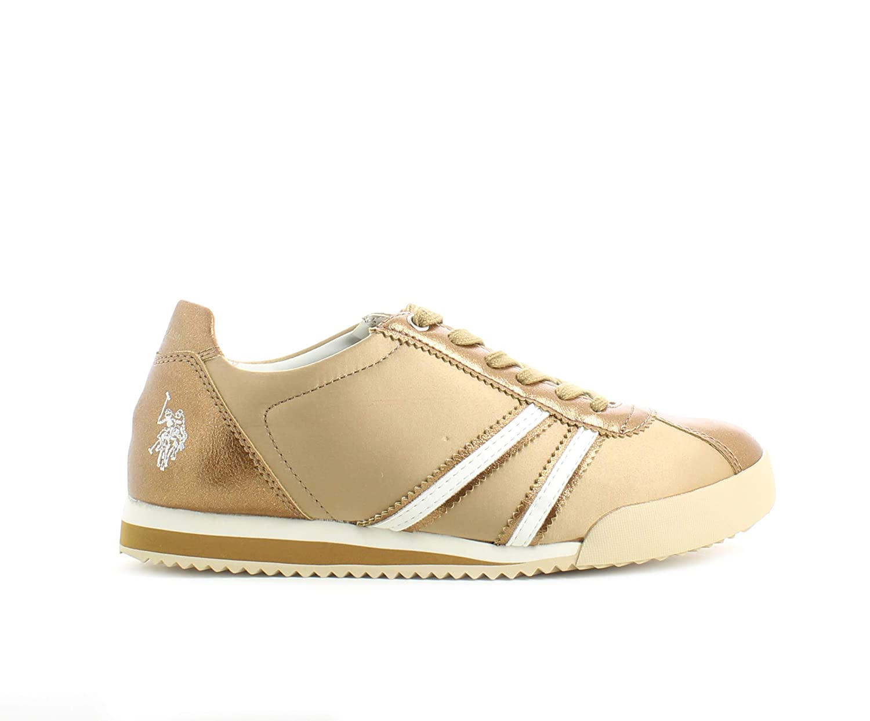 U.S.POLO ASSN. - Zapatillas de Tela para Mujer Dorado Dorado ...