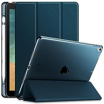 Infiland iPad Air 10,5 2019 Funda Case,Ultra Delgada Smart Translúcido Cover Cascara con portaplumas y Auto Reposo/Activación Función para iPad Pro ...