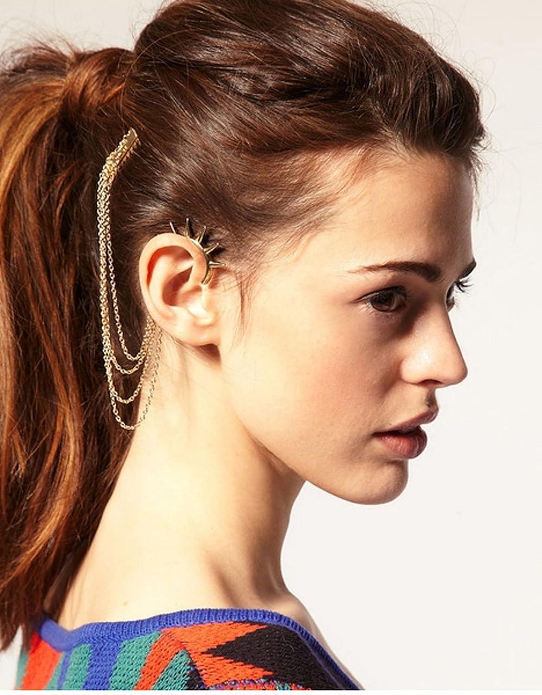 fashion tassel hair comb ear cuff earring hair