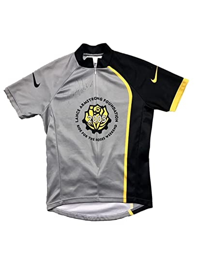 Lance Armstrong Foundation (2005 Ride For Roses) Signed Nike Cycling ... a0548379c