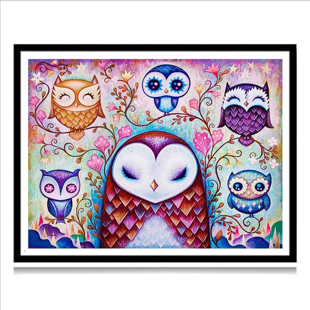 Moon YY lin 5d Diamond Painting Full Drill Cute Animal Painting Cross Stitch Full Drill Crystal Rhinestone Embroidery Pictures Arts Craft for Home Wall Decor Gift 40x30cm