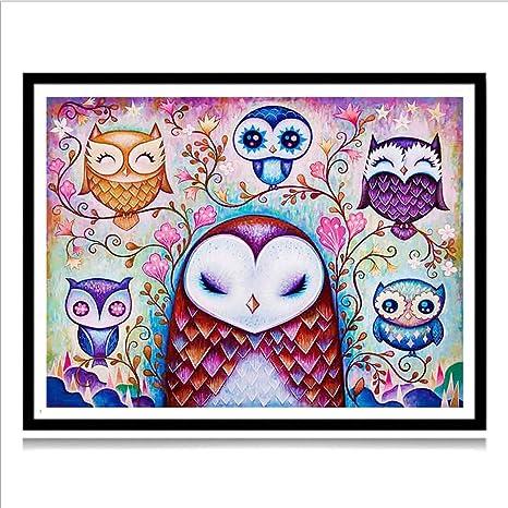 2020 Owl Bird Full Drill 5D Diamond Painting DIY Cross Stitch Kits Mosaic Gift