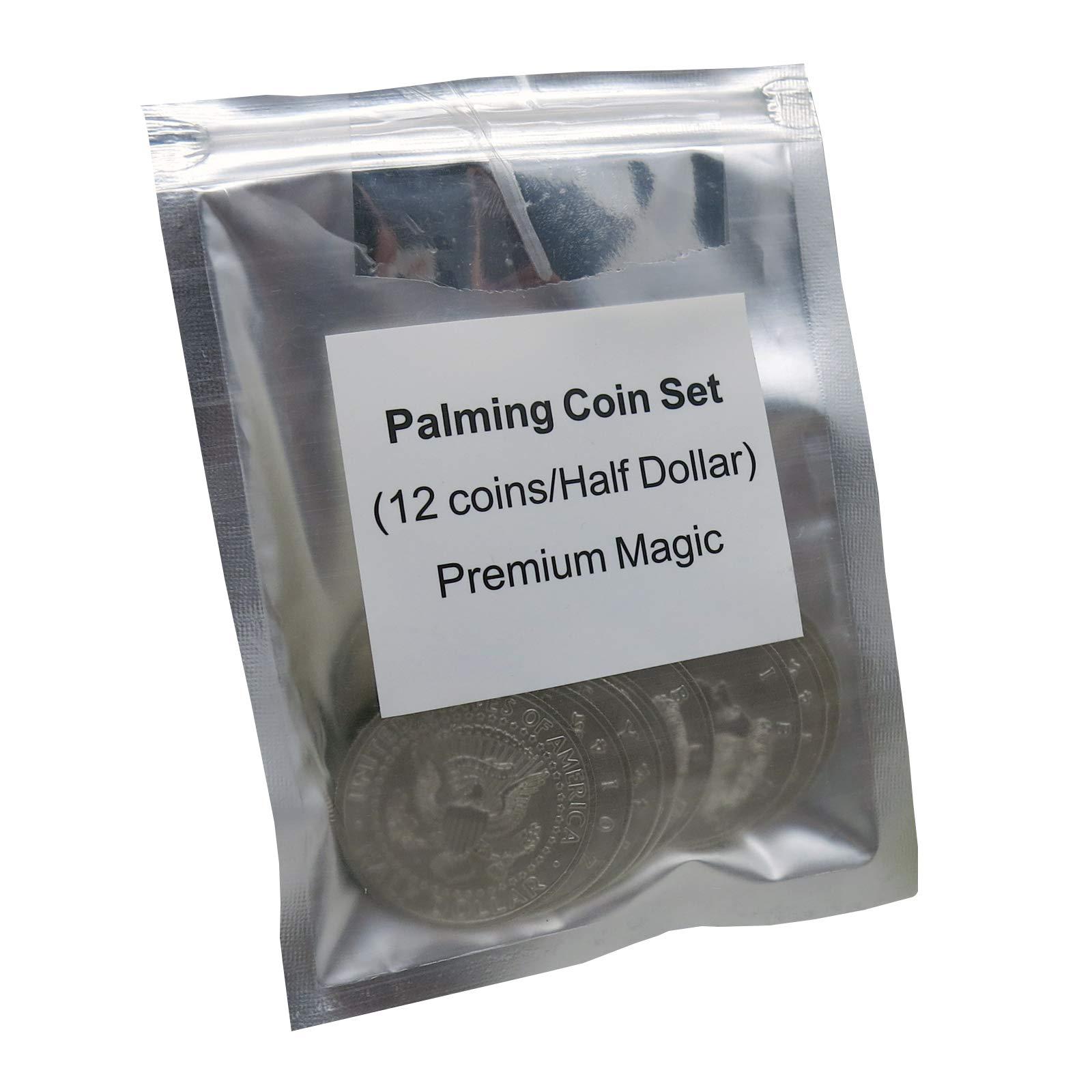 Palming Coin Set (U.S. Half design /12 piece) by Premium Magic - Trick