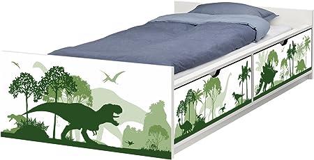 Letti Fuori Misura Ikea.Stikkipix Flx05 Pellicola Adesiva Per Mobili Dinosauri
