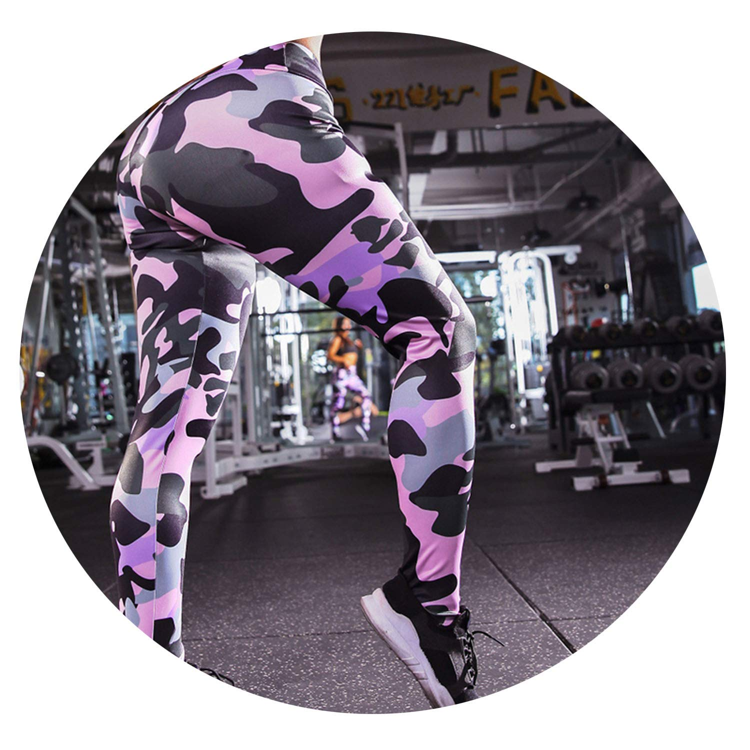 Amazon.com: Stree Corner Print High Elastic Yoga Pants Women ...