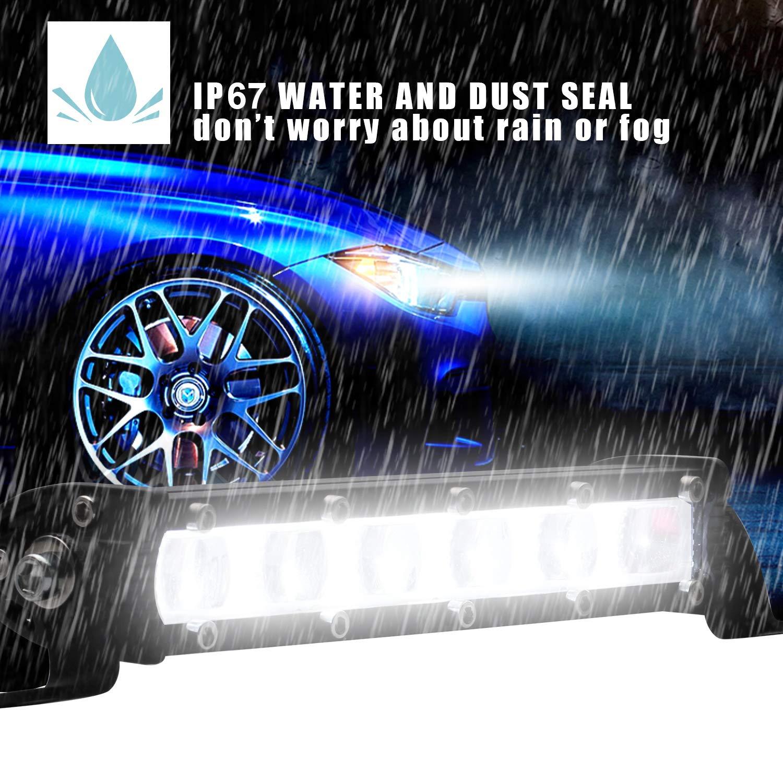 Amazon.com: Zmoon LED Light Bar 120W, 2PCS 7 Inch Spot Led Driving Light Single Row Off Road Fog Light for Truck Jeep SUV Boat ATV 4WD Car Golf Cart: ...
