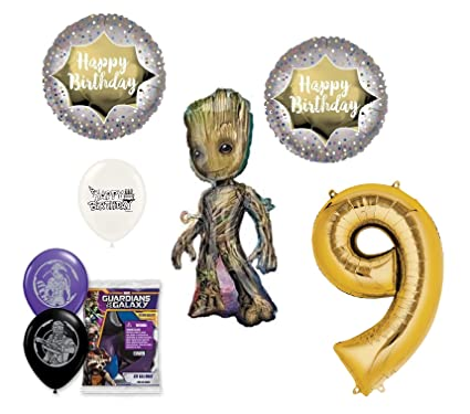 Amazon.com: Guardianes de la galaxia Groot 9 cumpleaños ...
