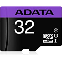 Adata Premier A1 32GB Class 10 UHS-I microSD Card | MicroSDHC/SDXC with Speed up to 100MB/s | V10 Series Memory Card | AUSDH32GUICL10A1-R | Purple