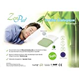 ZenPur - Oreiller Soft + Housse en Viscose de Bambou Bio Anti-Acariens 40x60cm.