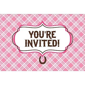 Amazoncom Heart My Horse Invitation Gatefold 8 Invites Birthday