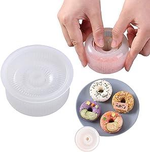 Non Stick Sushi Maker Press Onigiri Mold, Donut Rice Shaper Mold DIY Tool, Ideal BPA Free Rice Ball Mold(1 Pack)