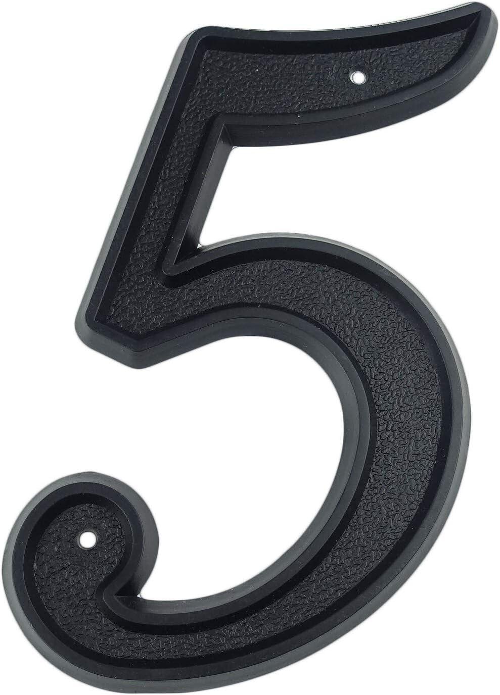 YMYGCC N/úmeros para Casas Los n/úmeros de direcci/ón Grande de n/úmero de inmueble Exterior 139 mm Altura de la Puerta N/úmero de pl/ástico ABS Negro for la Casa de 5-1//2 Pulgadas.# 0-9 896 Color : 8