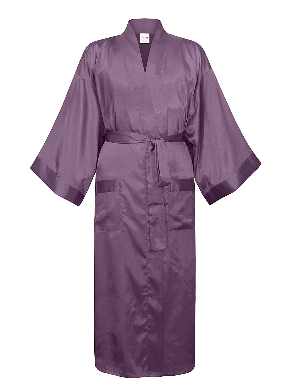 Swhiteme Men's Kimono Robe MK007
