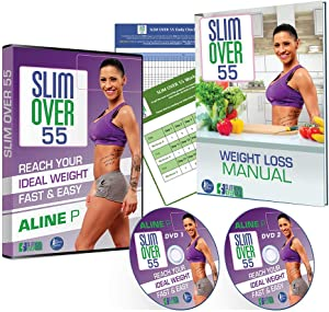 SLIM OVER 55 Workout DVD for Women - at Home Weight Loss Workout Videos for Women Over 55 - Lose 3 Pounds A Week