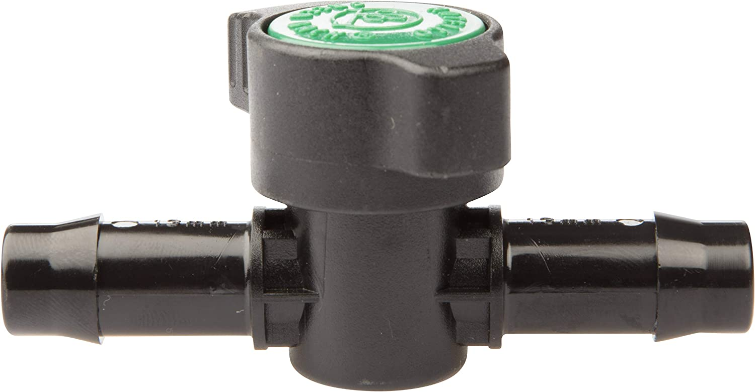 The Original Safety Siphon 1/2 Inch Barbed Shut Off Valve - Simple On and Off Operation No Leak Design - Constructed from Lightweight Wear-Resistant Plastic