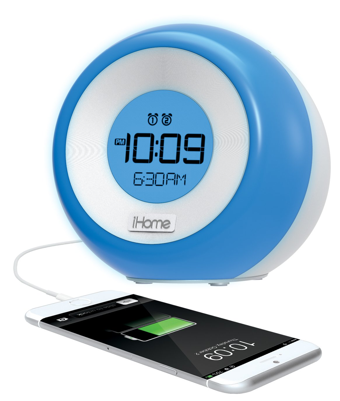 Amazon.com: iHome iM29SC Color Changing Dual Alarm FM Clock Radio ...