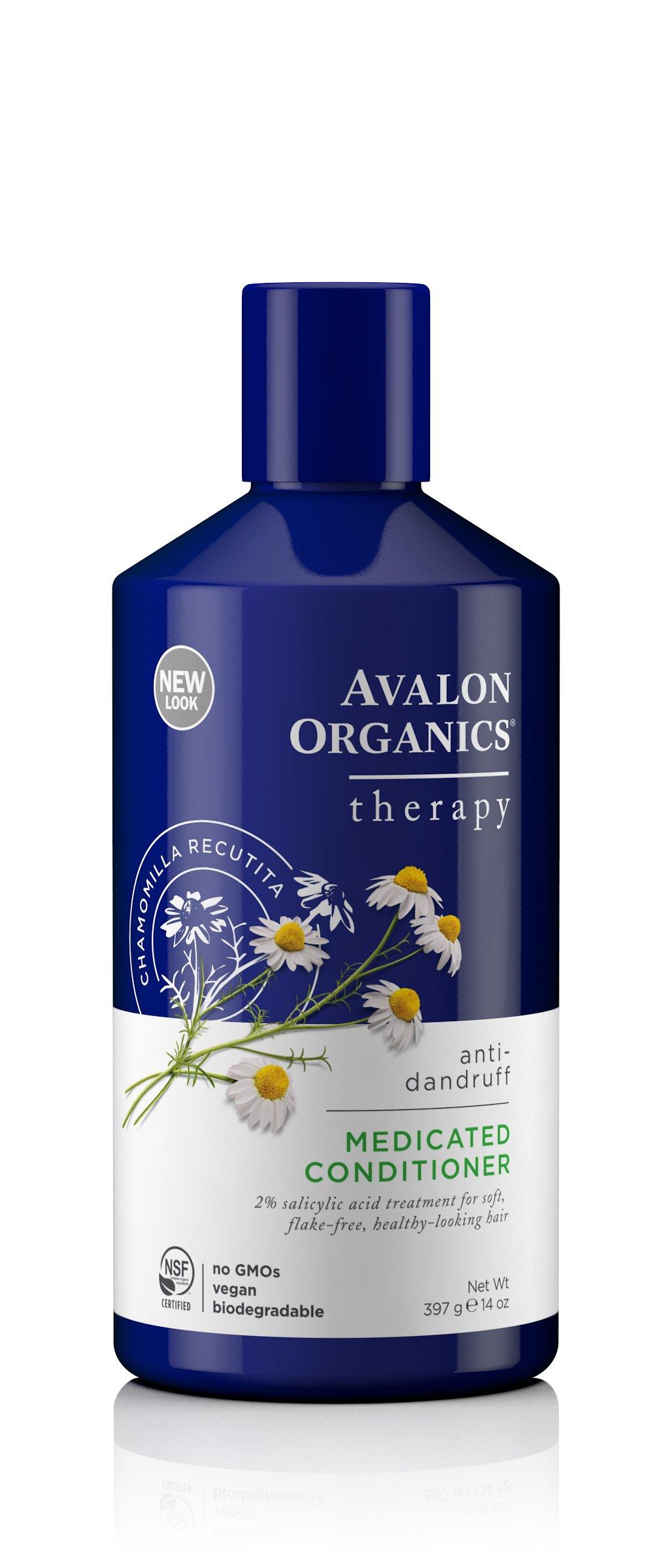 Avalon Organics Anti-Dandruff Itch & Flake Conditioner, 14 Ounce