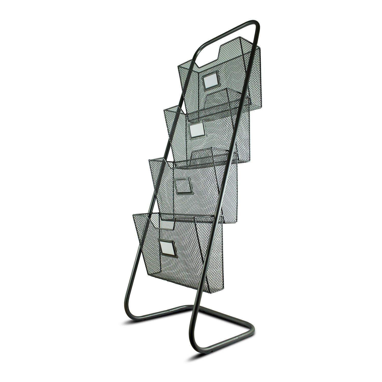 Crystal Art Standing Magazine Rack Grey 120963WEB5