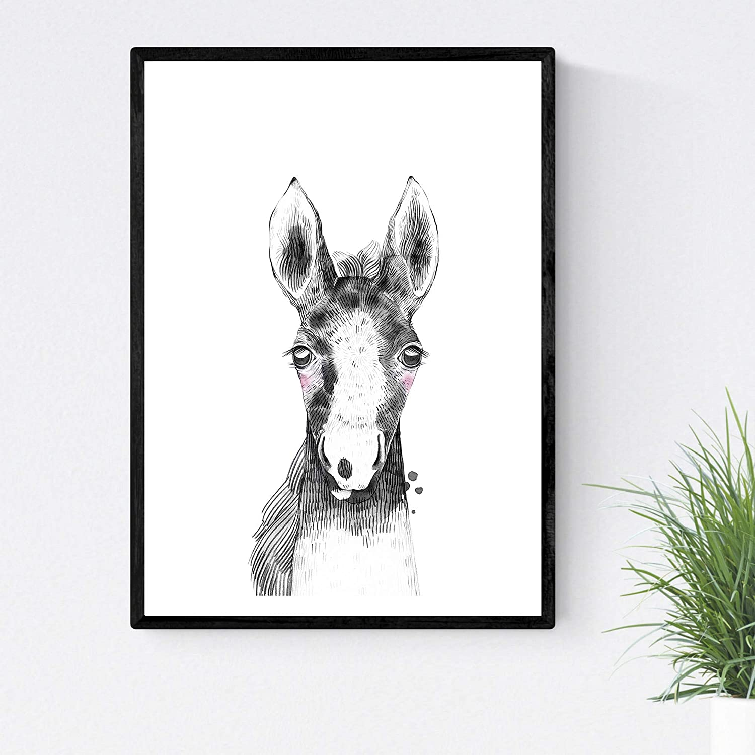 Nacnic Prints Baby Horse - Set of 1-250g Paper - Beautiful Poster Painting for Home Office Living Room