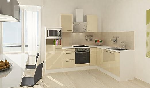 respekta Premium L Cocina empotrable 260 x 200 cm Vainilla ...