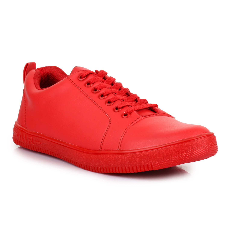 Buy AROOM Men's Red Sneaker Shoes at