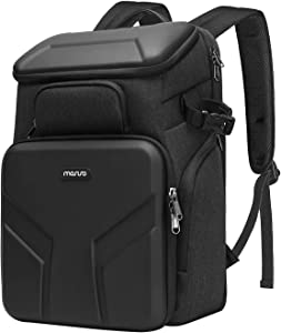 MOSISO Camera Backpack,DSLR/SLR/Mirrorless Photography Waterproof 17.3 inch Camera Bag Case with Front Hardshell&Laptop Compartment&Tripod Holder&Rain Cover Compatible with Canon/Nikon/Sony,Space Gray