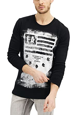 06eabbd9 trueprodigy Casual Mens Clothes Funny and Cool Designer Sweatshirt Sweater  for Men with Design Crew Neck Slim Fit Long Sleeve Black Sale:  Amazon.co.uk: ...