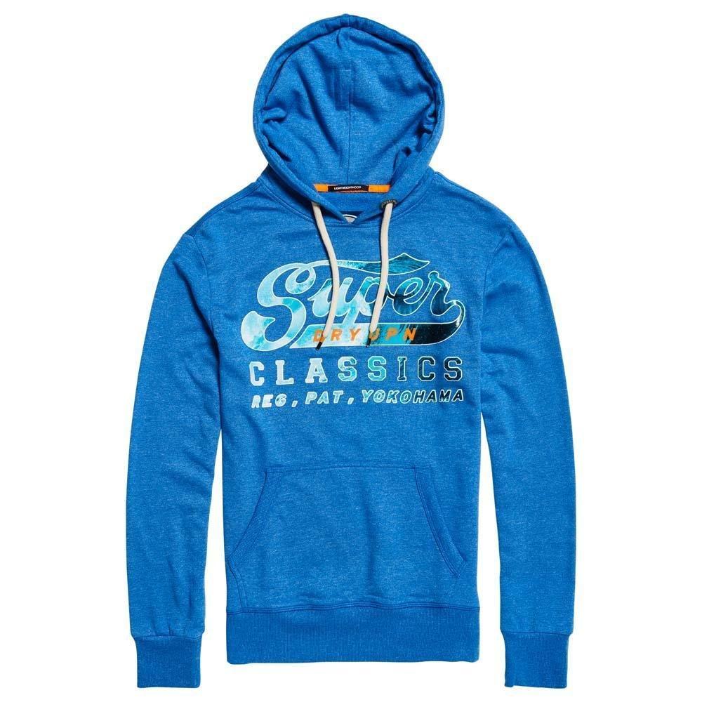 Superdry Herren Sweatshirt Blau Jet Blau Grit