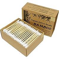 Two Tips I Bamboo Cotton Swabs I 200ct Biodegradable I Organic I Natural Cotton I Plastic Free I Ecological Choise to…