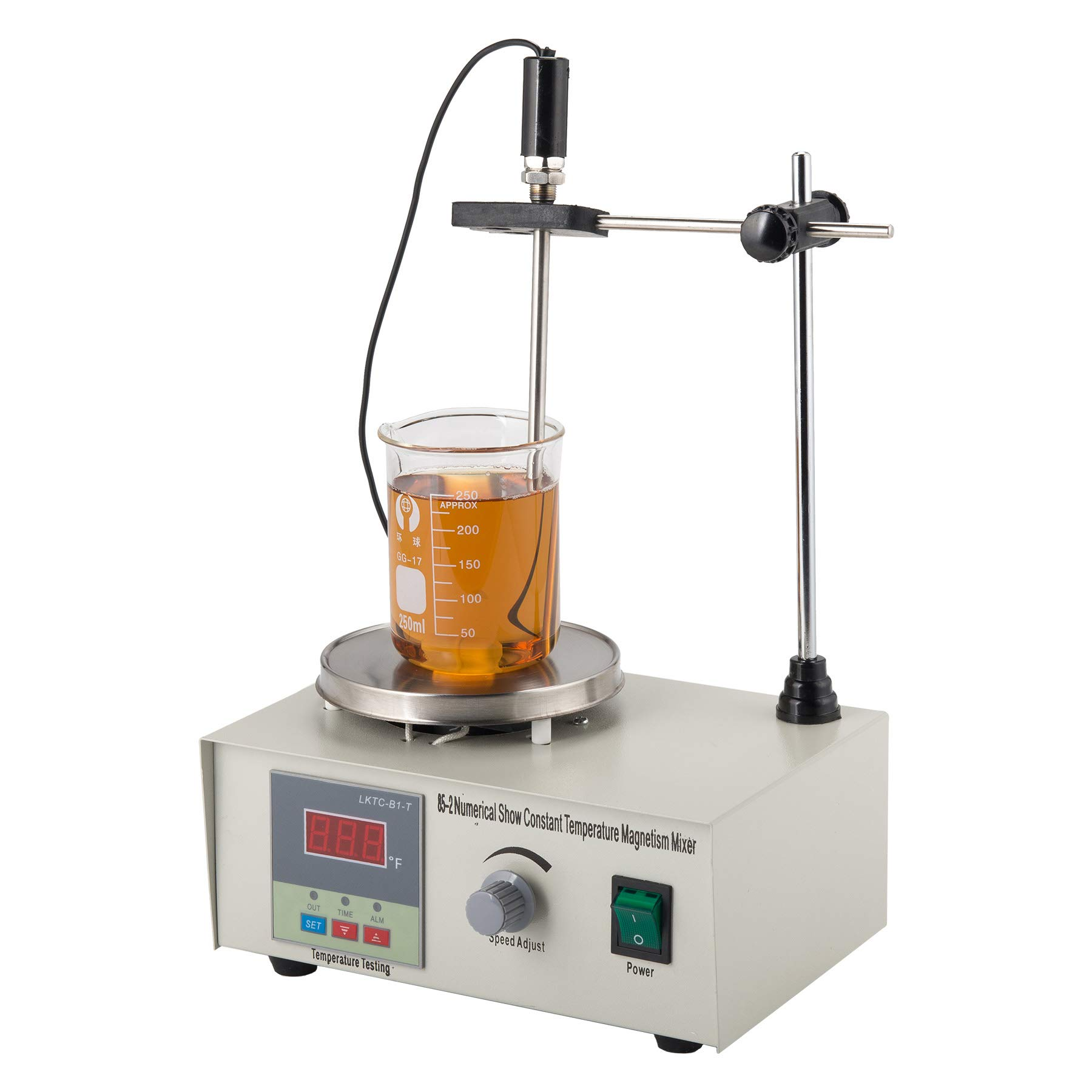 CO-Z Magnetic Stirrer Mixer Lab Mixer Magnetic Spinner Hotplate with Heating Plate 85-2 Digital Magnetic Mixer, 300W, 1000ml