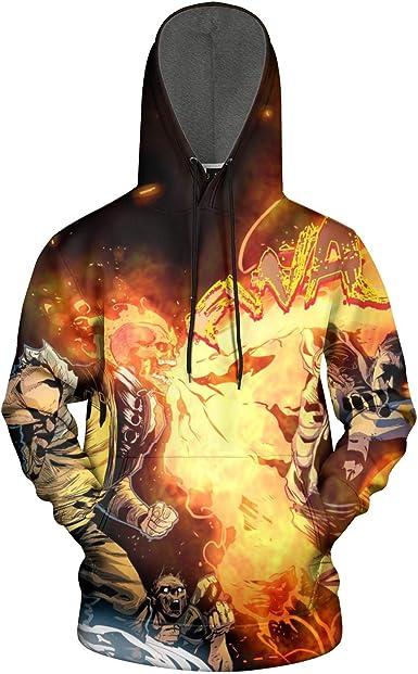 Graphic Hoodies Unisex 3D Realistic Hooded Sweatshirt Sports Mortal-Kombat-Sub-Zero-Black