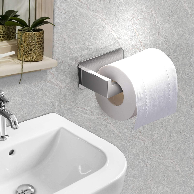 Toilettenpapierhalter ohne Boren EniBon Toilettenpapierhalter Selbstklebend Klorollenhalter Edelstahl Klopapierrollenhalter toilettenpapierhalter edelstahl WC Papier Halterung f/ür Badzimmer/&K/üche