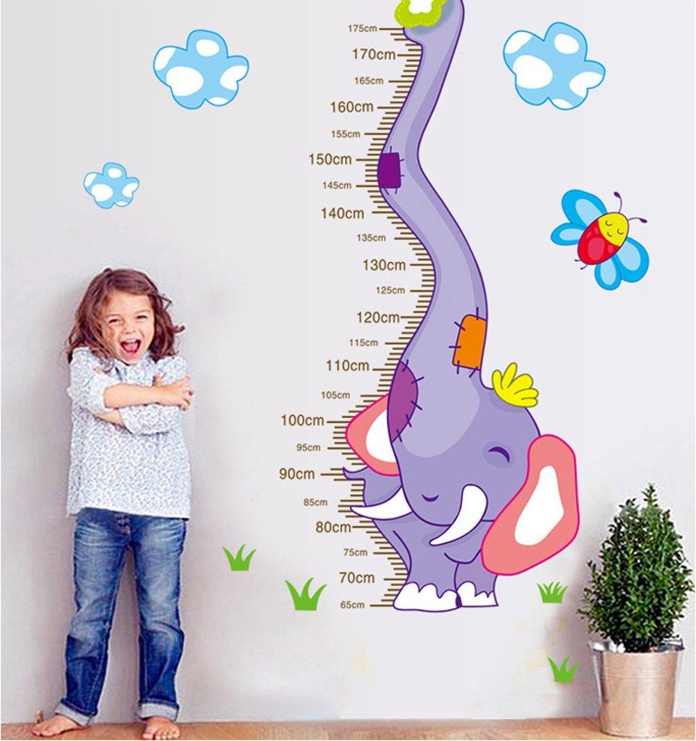 ufengke® Elefante Cartoon Adesivi Murali Con Metri, Camera dei Bambini Vivai Adesivi da Parete Removibili/Stickers Murali/Decorazione Murale Ufingo