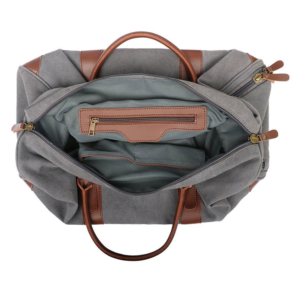 Color : Gray Yangjiaxuan Casual Men And Women Canvas Travel Bag Set Large Capacity Bag Travel Outdoor Luggage Bag