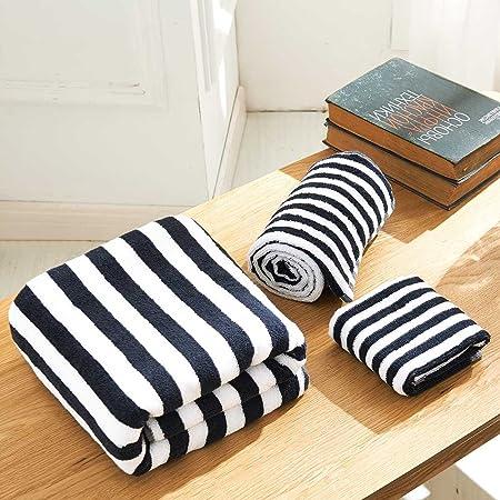 Enjoybridal Stripe Design 100 Cotton Towels Bale Set 3 Pieces