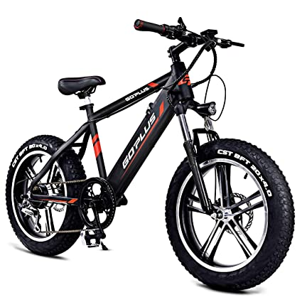 E Mountain Bike >> Goplus 20 Electric Mountain Bike Bicycle E Bike Fat Tire 17mph Max Speed With Removable 48v 350w Lithium Battery Charger And Shimano Speed Shifter