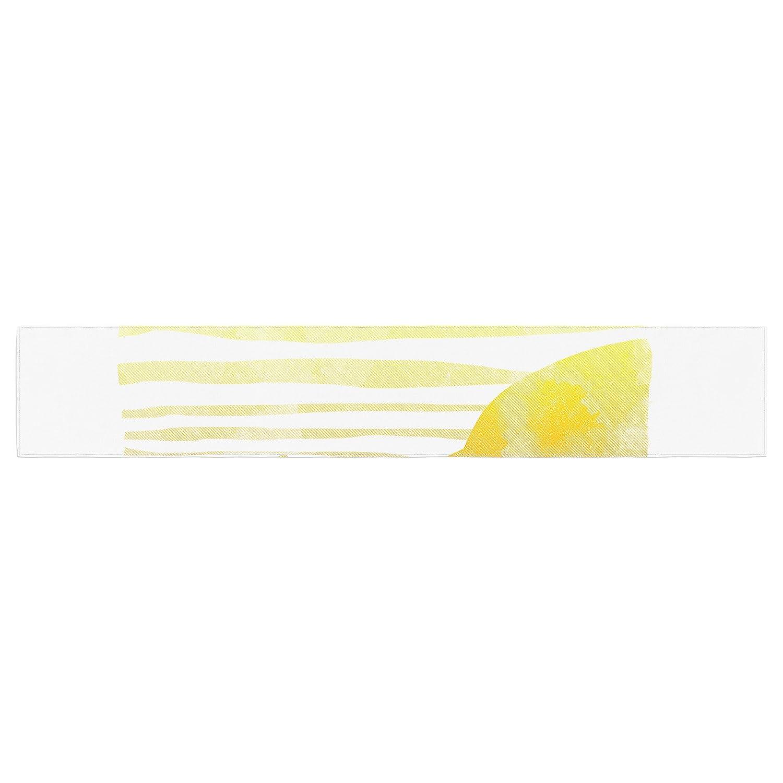 16 x 180 KESS InHouse Frederic Levy-Hadida Landscape Painted With Tea Orange Coastal Table Runner
