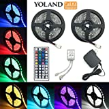 Amazon Price History for:LED Strip Lights Kit, Yoland Waterproof SMD 5050 RGB 14Ft/4.8M(7Ft2Reels) 144LEDs with 44Key Remote Controller and Power Supply for Holiday Party Decorators