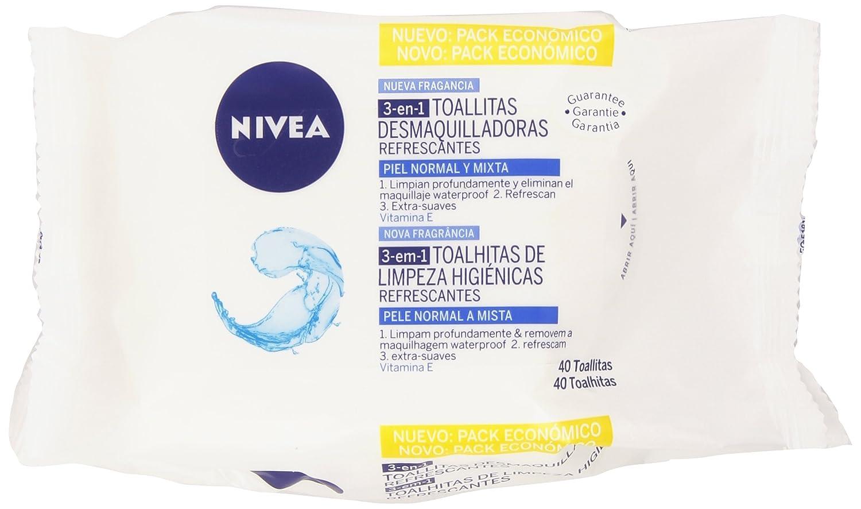 NIVEA Toallitas Desmaquilladoras Refrescantes (1 x 40 ud ...