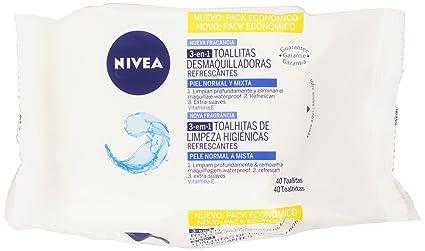 Nivea - Toallitas Desmaquilladoras para Piel Normal y Mixta - 40 Toallitas