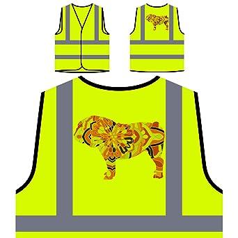 Mandala De Bulldog Inglés Chaqueta de seguridad amarillo ...