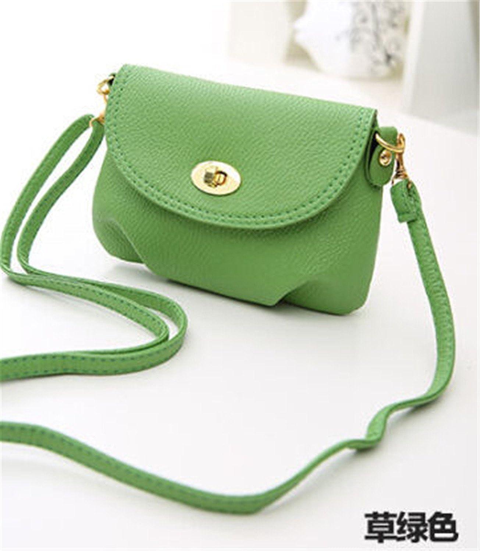 Green KDHJJOLY Mini Small Women's Messenger bag Leather Handbags Shoulder bags Cross body Crossbody Bags Purses Cover zipper