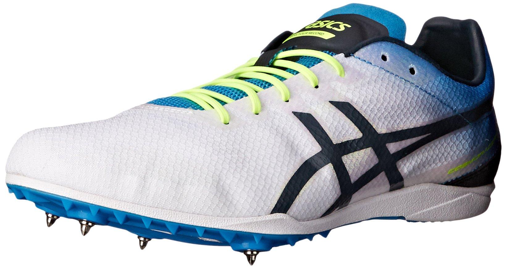 ASICS Men's Cosmoracer LD Track Shoe, White/Methyl Blue/Dark Slate, 8.5 M US by ASICS