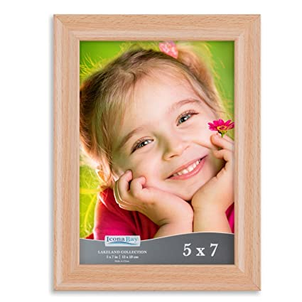 amazon com icona bay 5x7 picture frame 1 pack beechwood finish