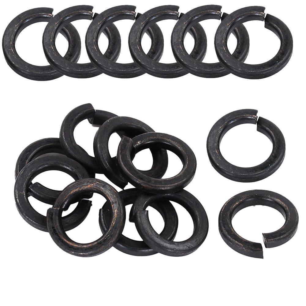HIFROM 120pcs M6 Spring Washer Carbon Steel Split Lock 6mm Inner Dia Washer Gasket Black