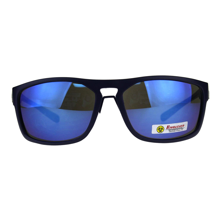 Biohazard sol para hombre hombre Oval Blue Rectangular mate marco UV ...
