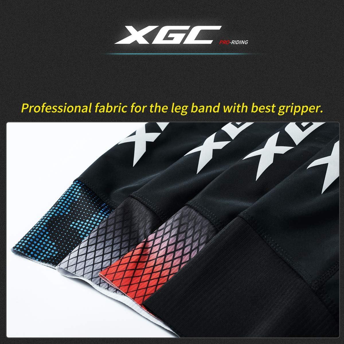 con imbottitura in spugna 4D Pantaloncini da ciclismo da uomo XGC