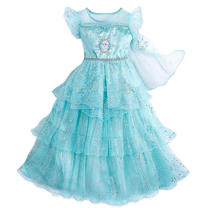 Amazon.com: Disney Frozen Elsa Nightgown for Girls Size 5/6 Blue ...