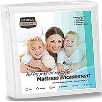Utopia Bedding Zippered Mattress Encasement - Bed Bug Proof, Dust Mite Proof Mattress Cover - Waterproof Mattress Cover