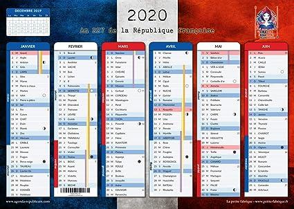 Achat Calendrier 2020.Calendrier Republicain 2020